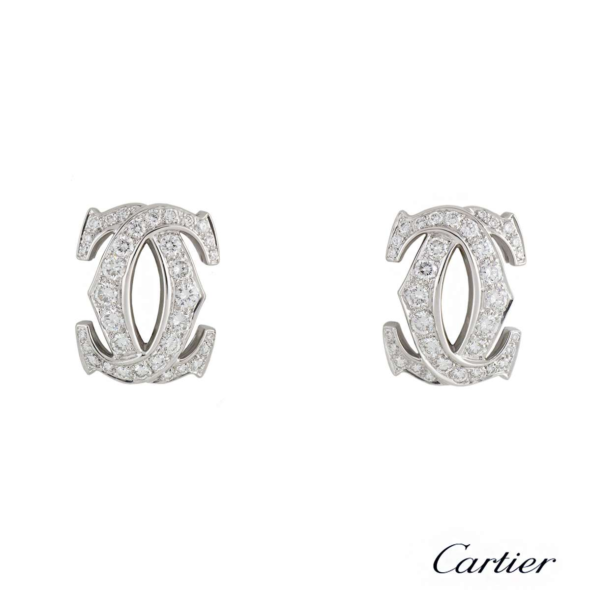 CartierC de Cartier Diamond White GoldEarrings